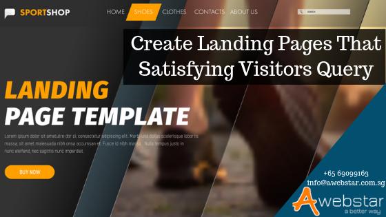 landing page satisfies customers