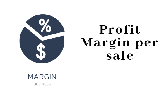 estimate profit margin per sale